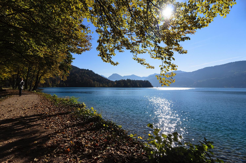 Herbst am Wolfgangsee im Salzkammergut