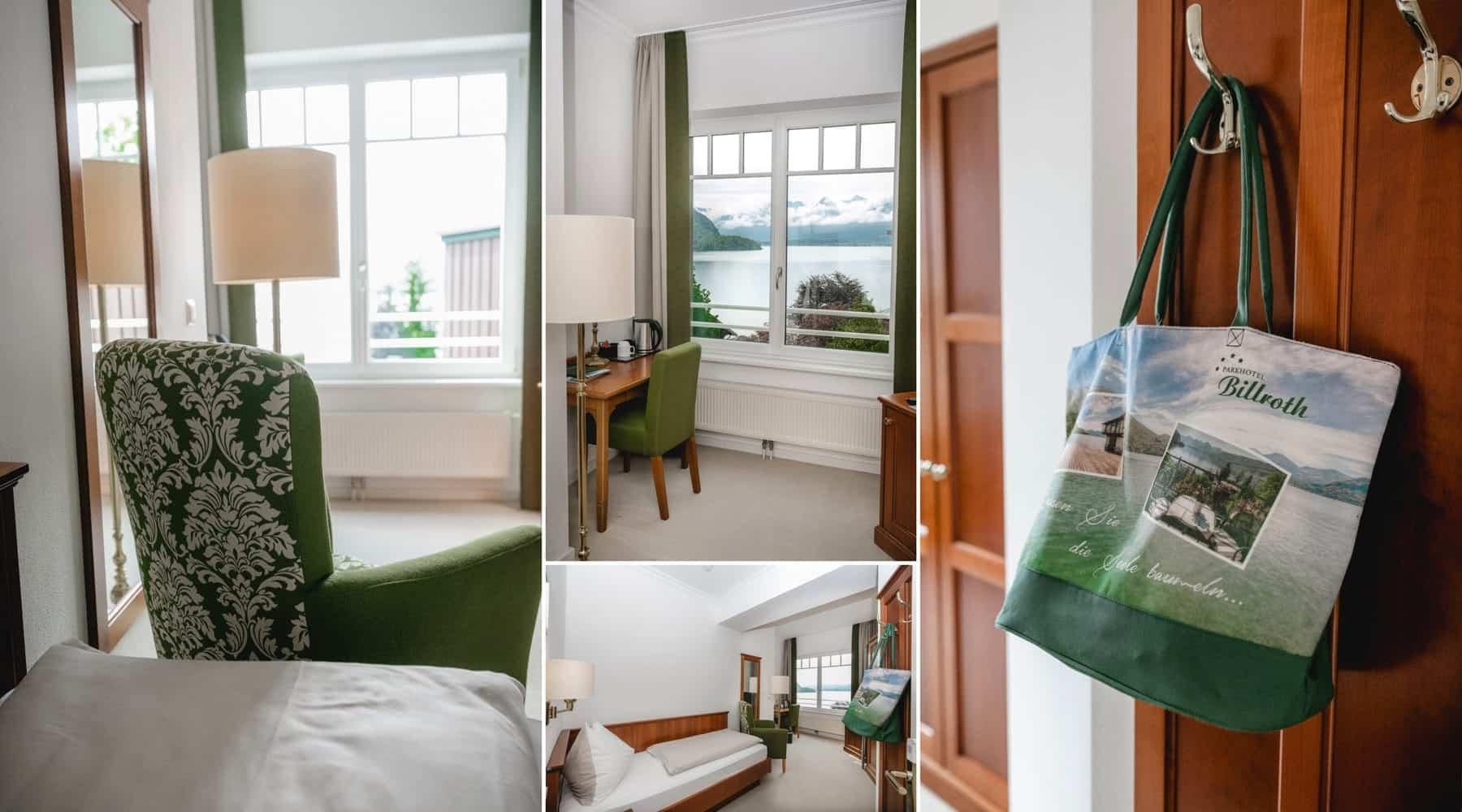 Impressionen Einzelzimmer-Seeblick-Collage